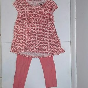 Jumping Beans 4t short sleeve top pants peach